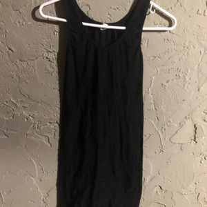 Black mini Bodycon Spandex Dress 👗Sz Small-Medium